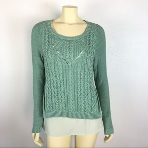 Anthropologie Moth Cable Knit Ella Sweater Size M